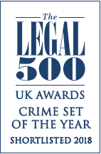 Shortlisted Legal 500 Crime Set of the Year 2018