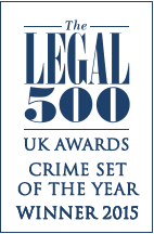 Winner Legal 500 Crime Set of the Year 2015