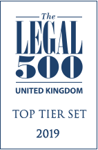The Legal 500 UK Top Tier Set 2019