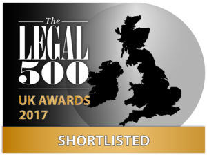 Legal 500 Awards 2017: shortlisted