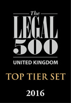 Legal 500 2016: Top Tier Set