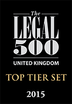 Legal 500 Top Tier Set 2015