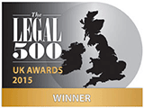 Legal 500 UK Awards 2015: Winner