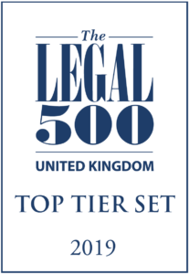 Legal 500 2019: Top Tier Set